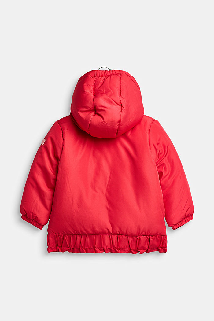 Anorak met capuchon en ruche, STRAWBERRY, detail image number 1