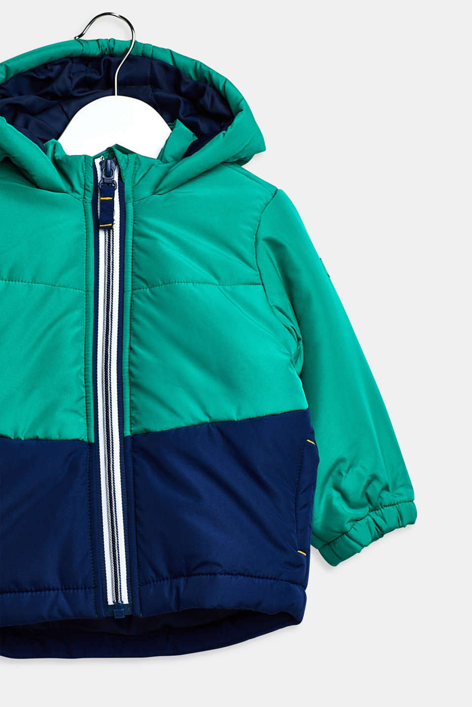 Padded hooded anorak, LCMID GREEN, detail image number 2