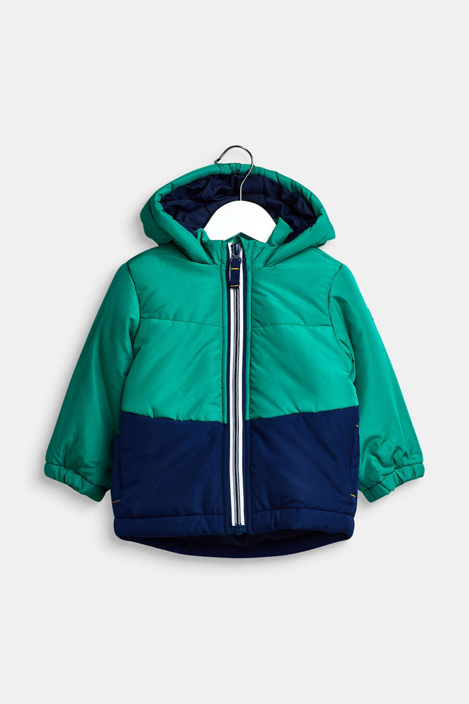 Padded hooded anorak, LCMID GREEN, detail image number 0