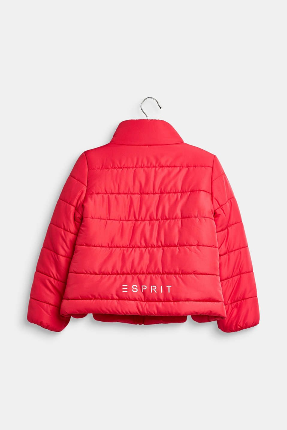 Quilted jacket with a stand-up collar, STRAWBERRY, detail image number 1
