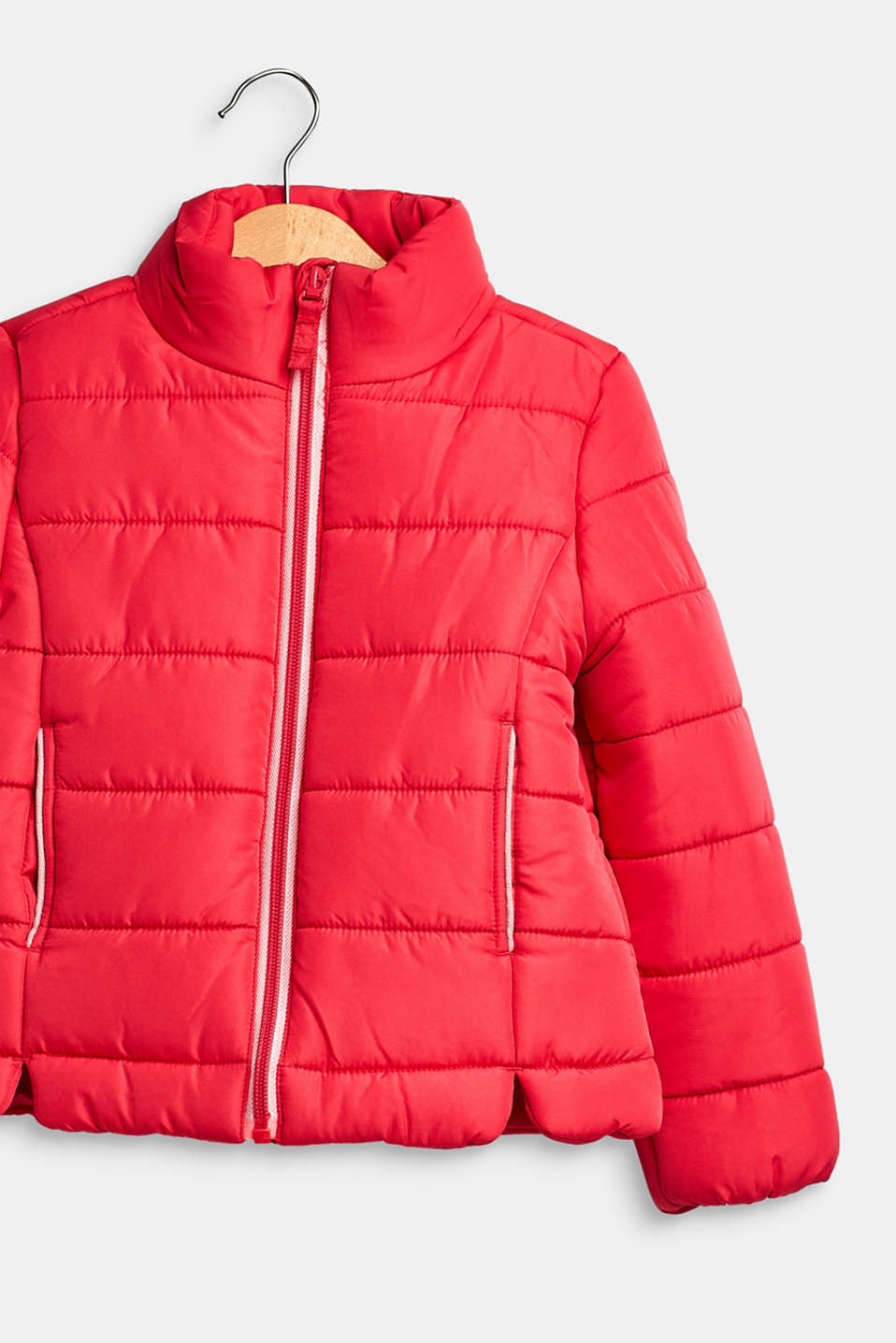 Quilted jacket with a stand-up collar, STRAWBERRY, detail image number 2