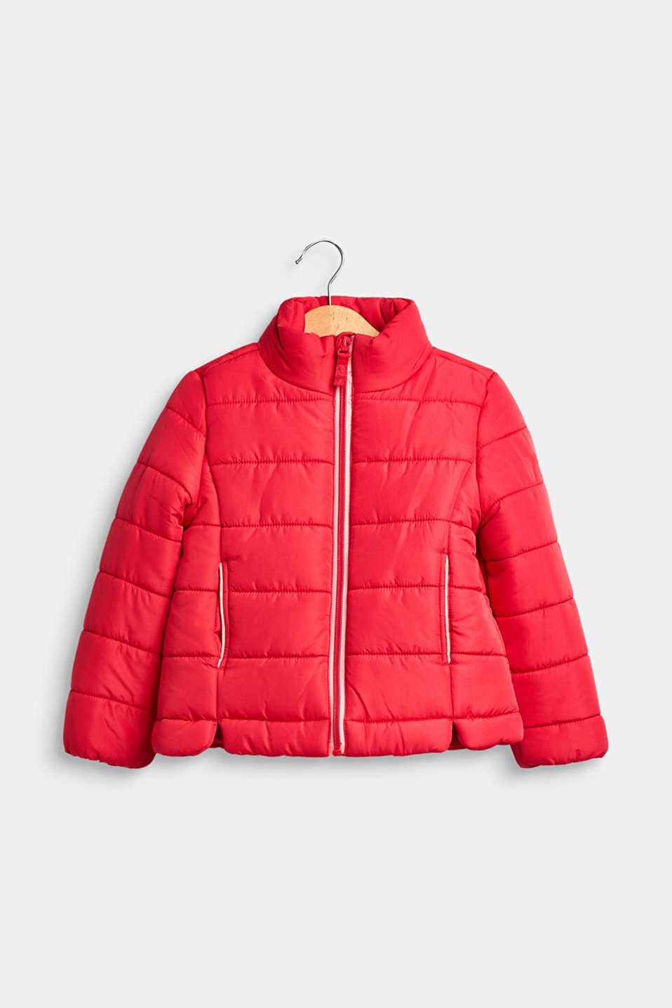 Quilted jacket with a stand-up collar, STRAWBERRY, detail image number 0