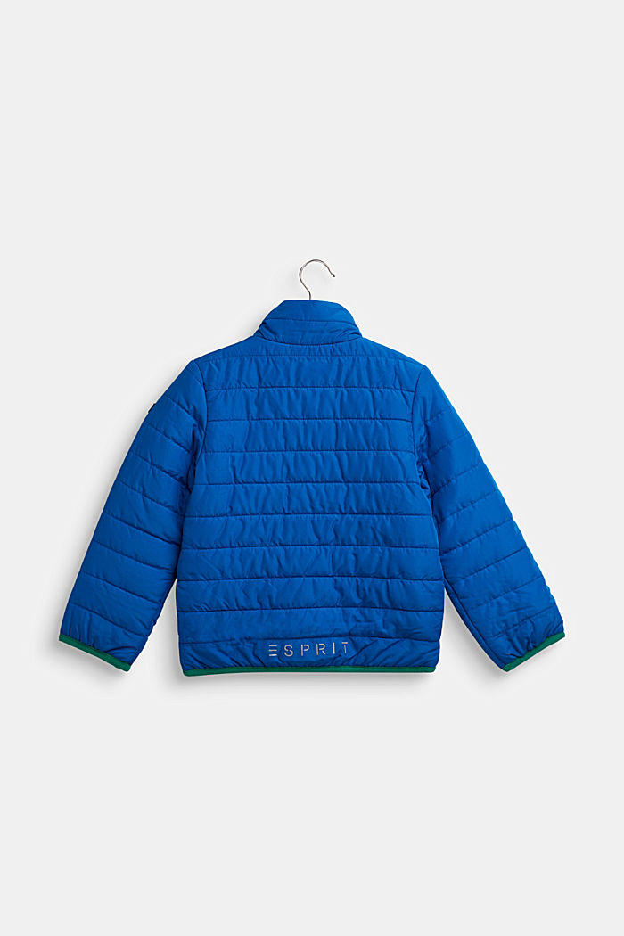 Quilted jacket with contrasting detailing, BRIGHT BLUE, detail image number 1