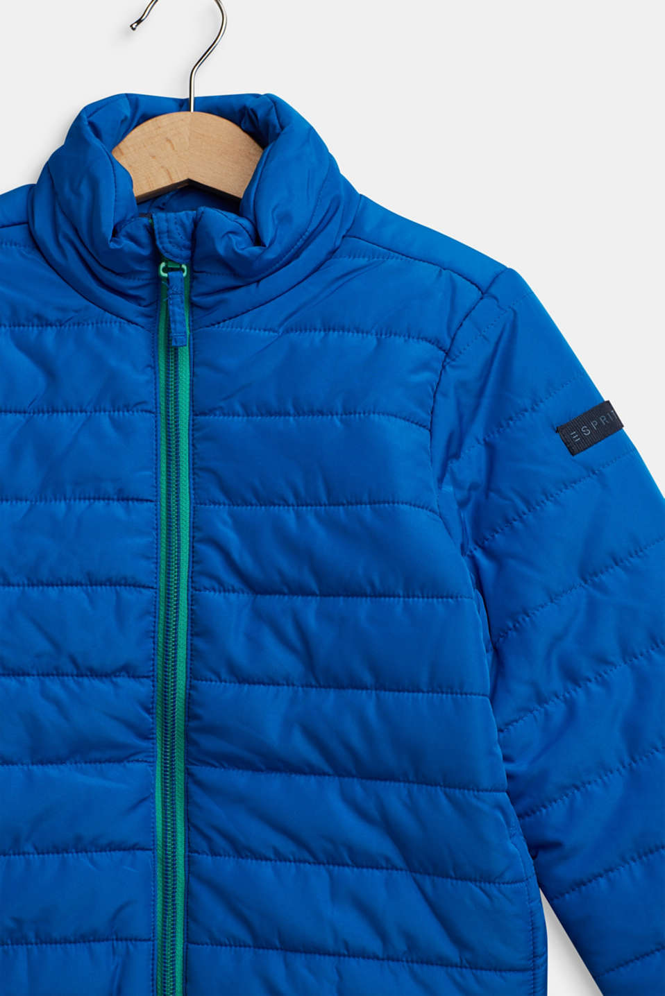 Quilted jacket with contrasting detailing, BRIGHT BLUE, detail image number 2