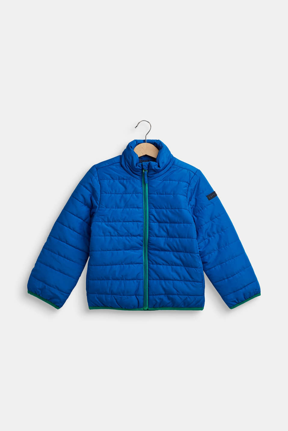 Quilted jacket with contrasting detailing, BRIGHT BLUE, detail image number 0