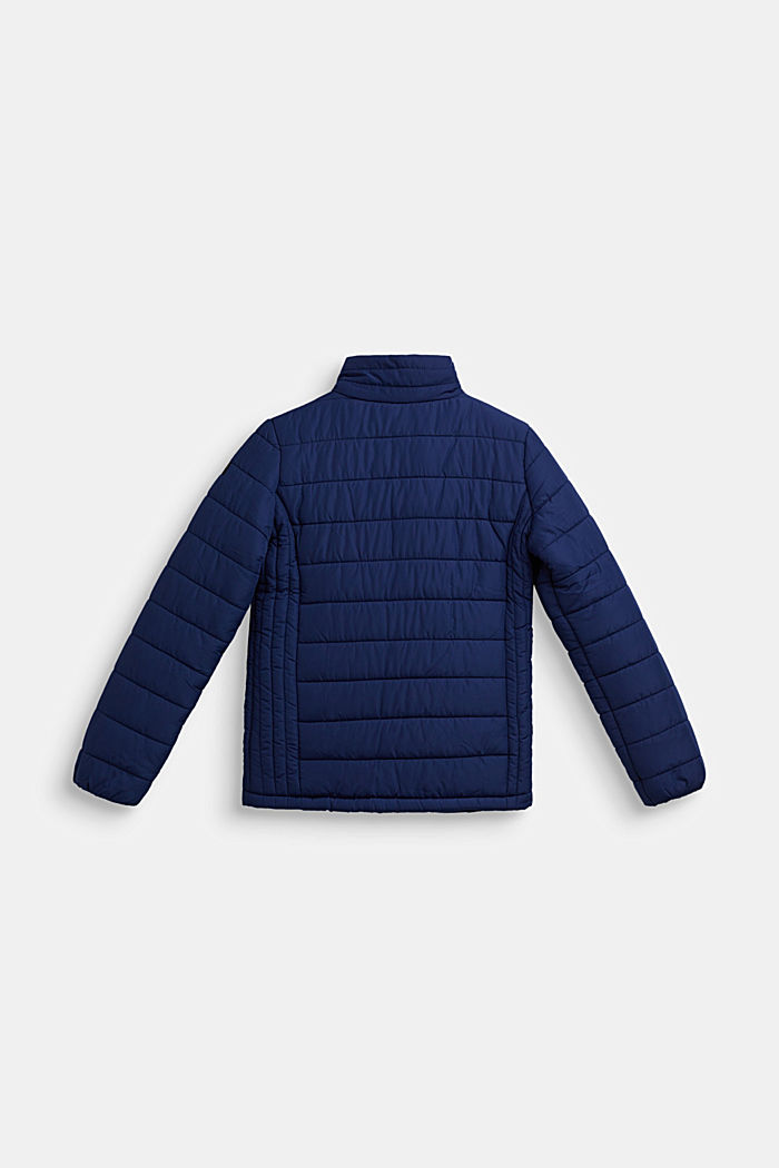 Quilted jacket with a stand-up collar, MARINE BLUE, detail image number 1