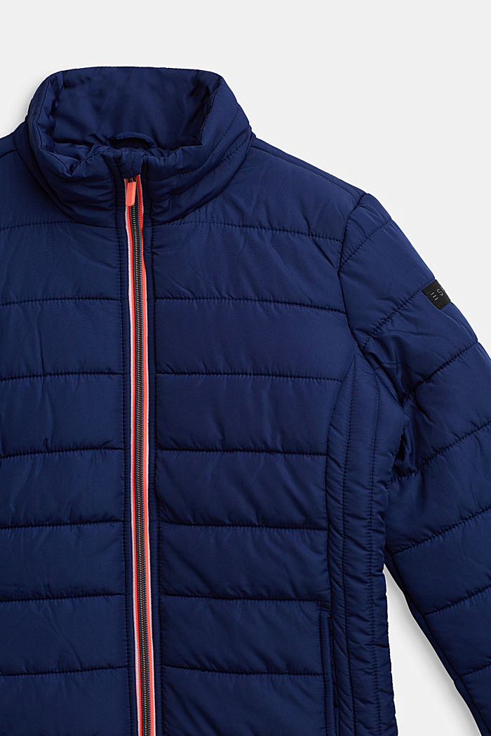 Quilted jacket with a stand-up collar, MARINE BLUE, detail image number 2