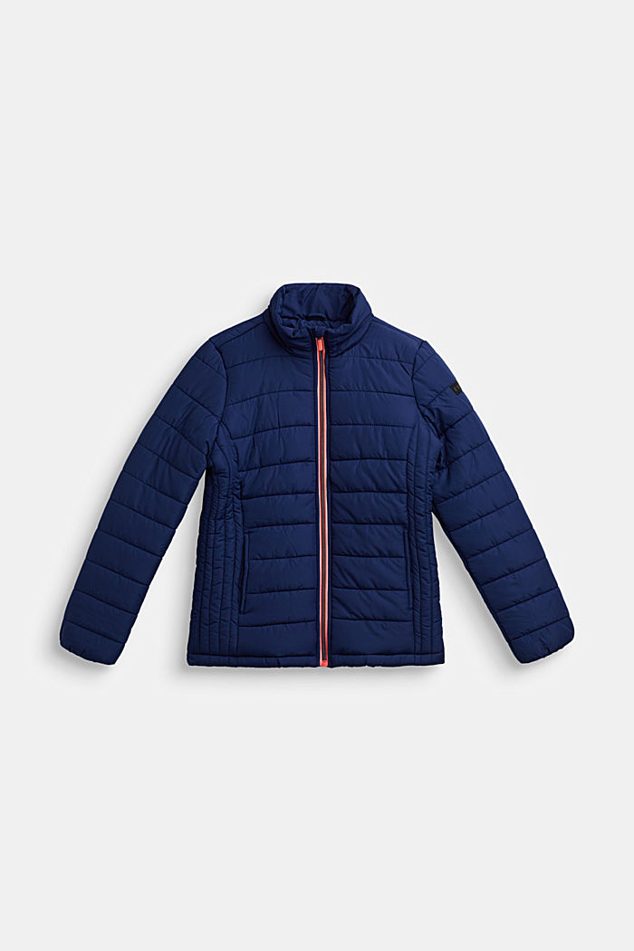 Quilted jacket with a stand-up collar, MARINE BLUE, detail image number 0