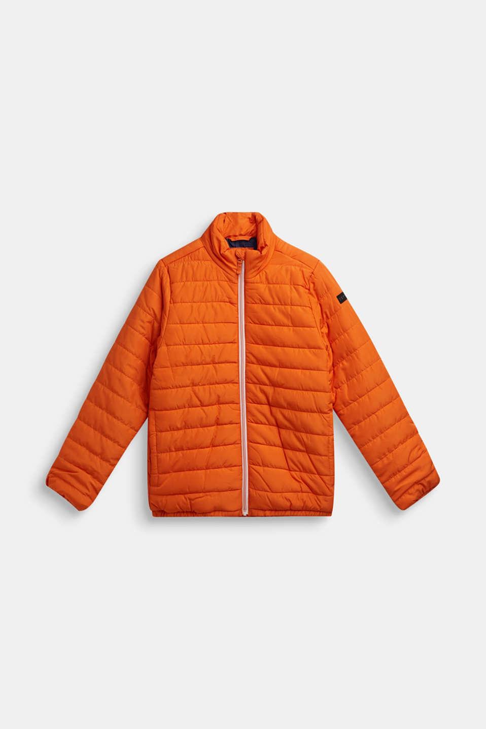 Lightweight quilted jacket, LCBRIGHT ORANGE, detail image number 0