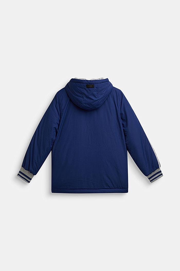 Wattierte Kapuzen-Jacke, MARINE BLUE, detail image number 1