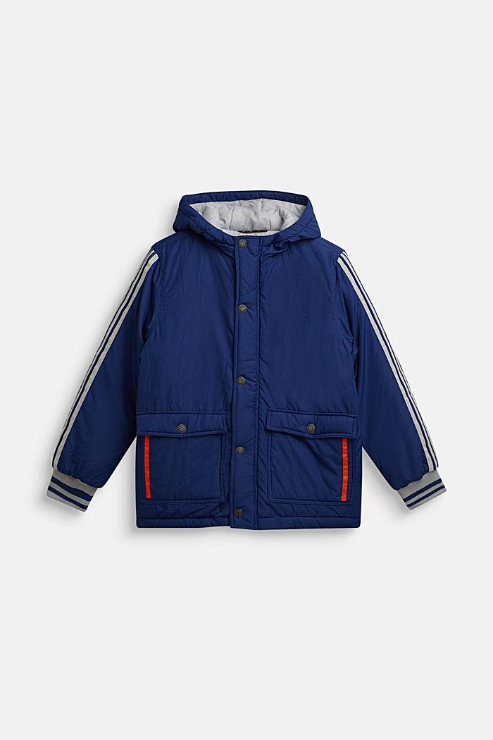 Wattierte Kapuzen-Jacke, MARINE BLUE, detail image number 0