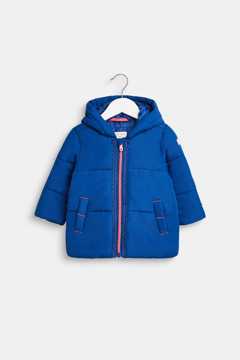 Esprit - Padded jacket with a hood and lace