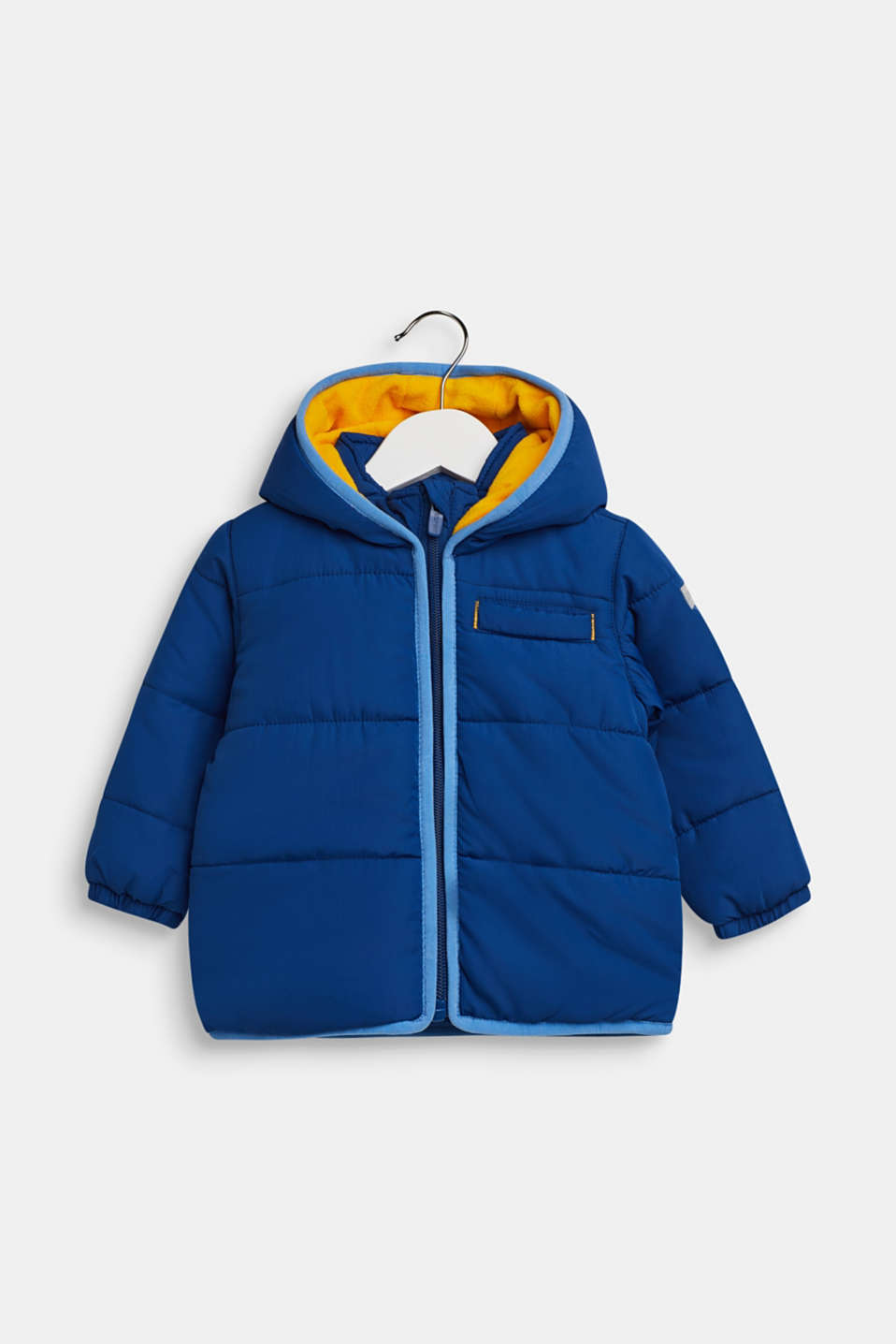 Esprit - Quilted jacket with fleece lining and hood