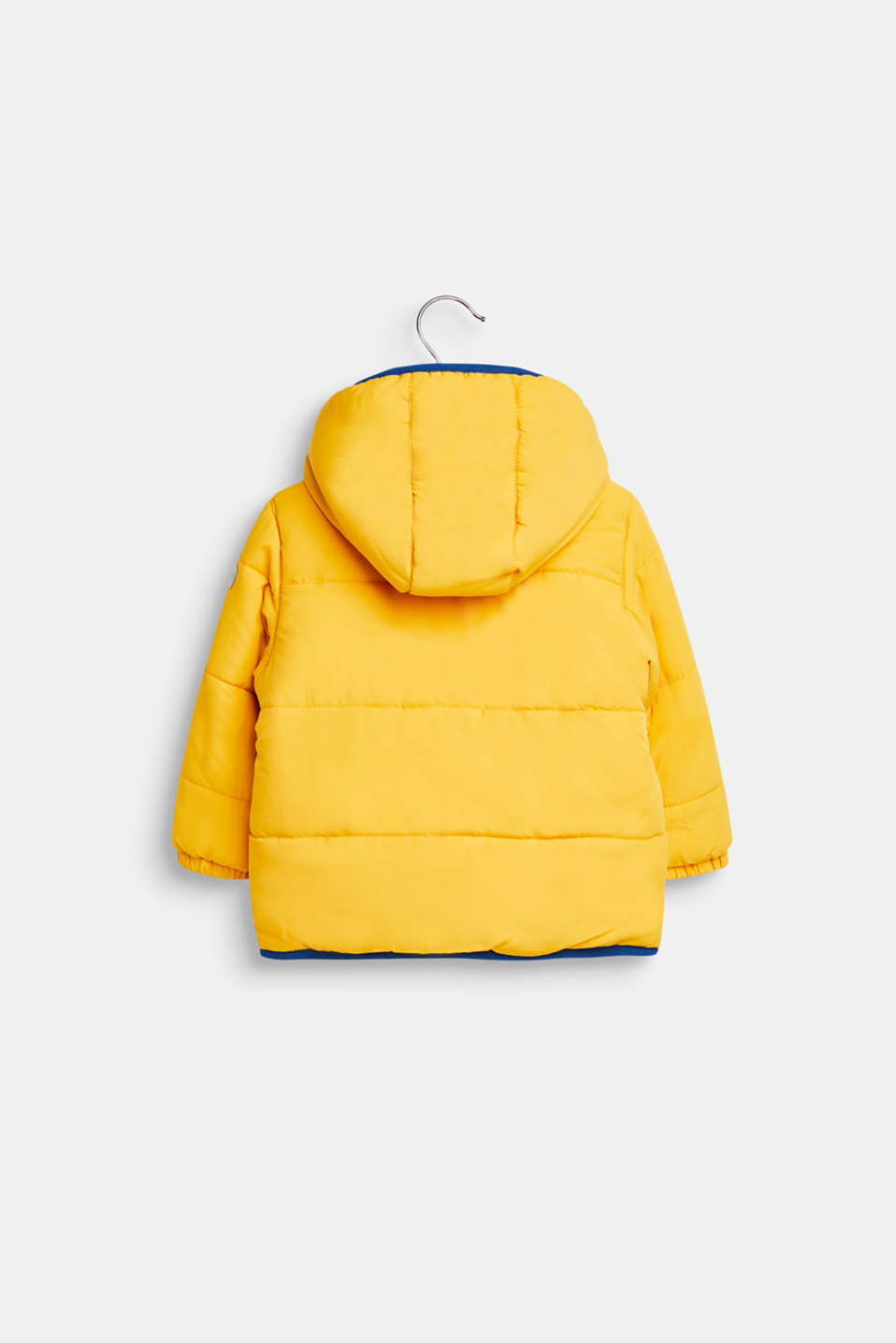 Quilted jacket with fleece lining and hood, LCMUSTARD, detail image number 1