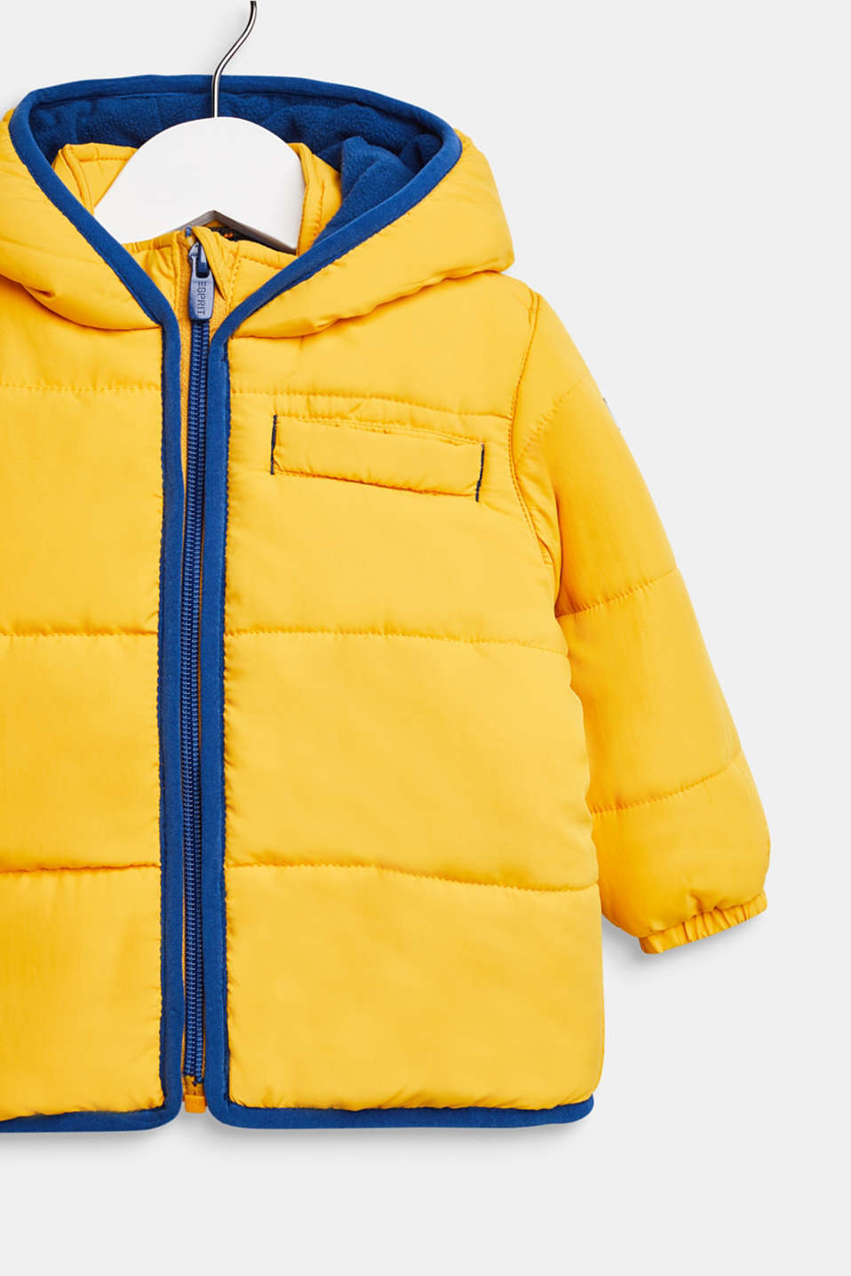 Quilted jacket with fleece lining and hood, LCMUSTARD, detail image number 2