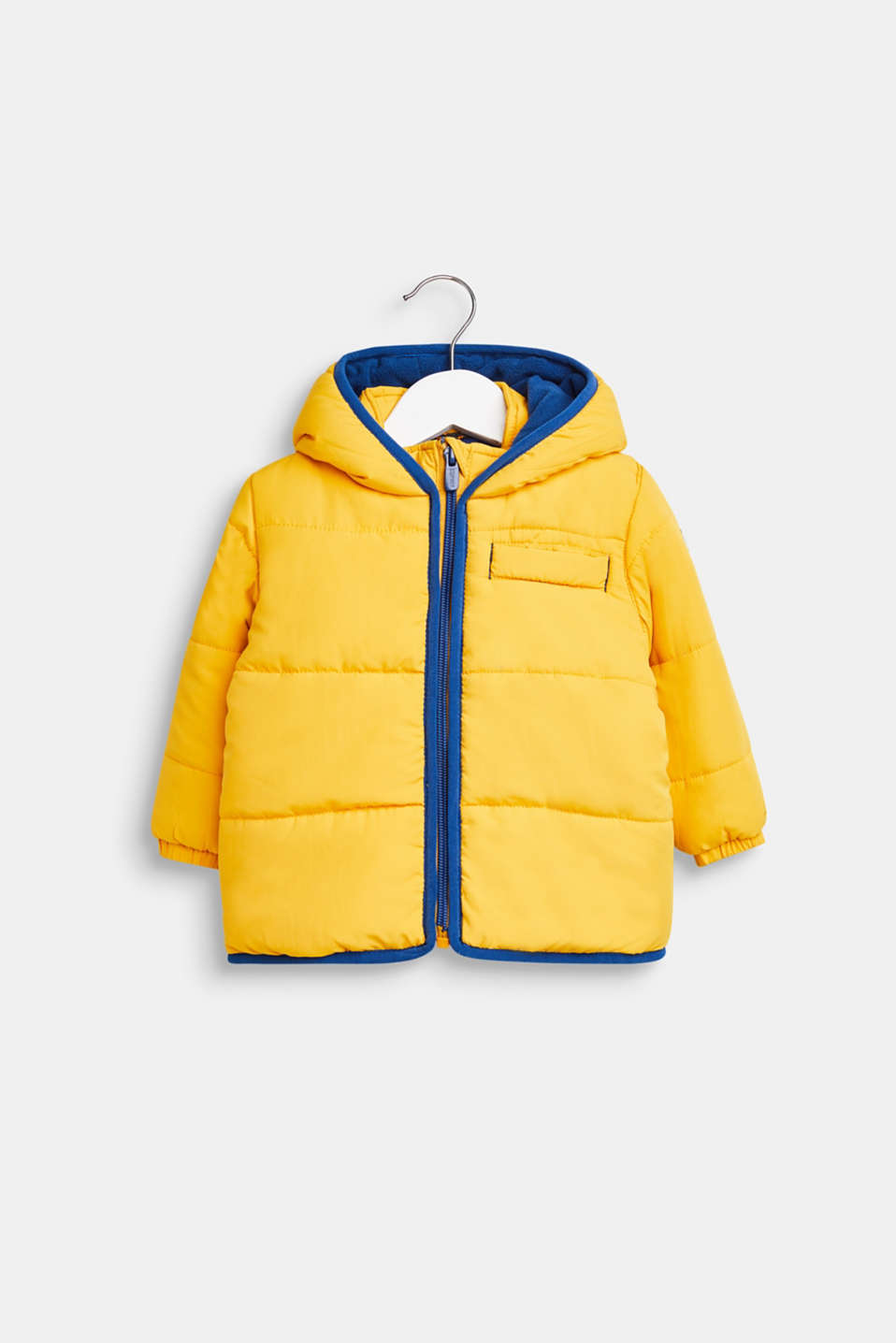 Quilted jacket with fleece lining and hood, LCMUSTARD, detail image number 0