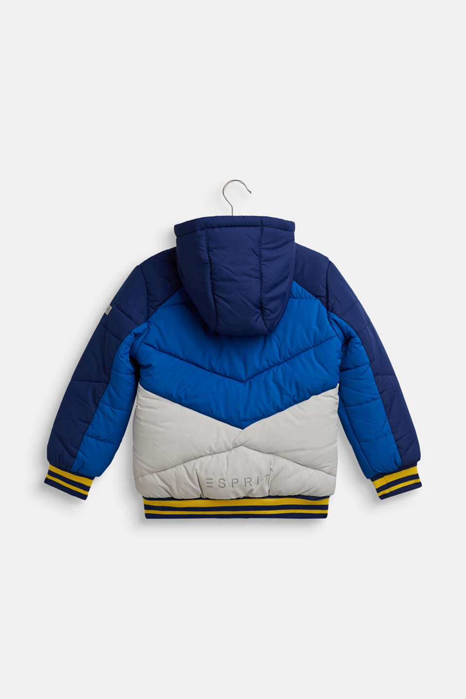 Colour block quilted jacket, MARINE BLUE, detail image number 1