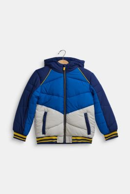 Colour block quilted jacket, MARINE BLUE, detail