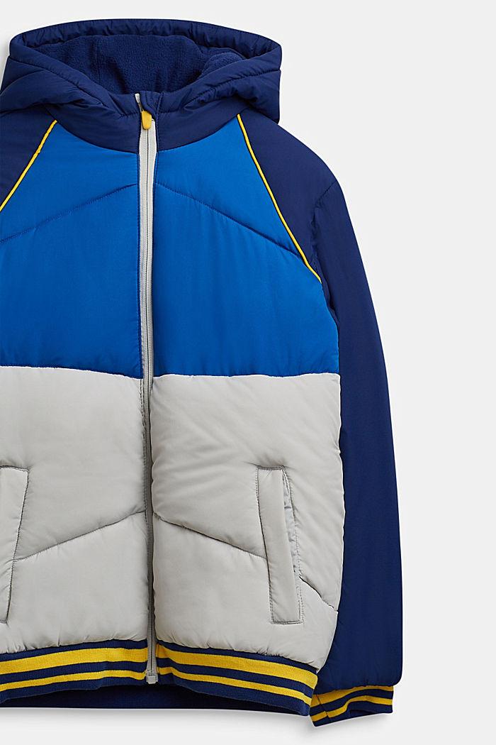 Gewatteerde jas met een colour block design, MARINE BLUE, detail image number 2