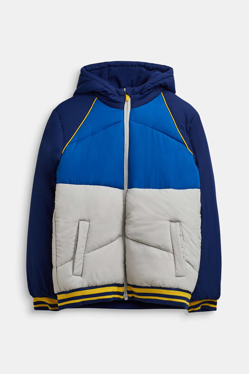 Quilted jacket with colour blocking, LCMARINE BLUE, detail image number 0