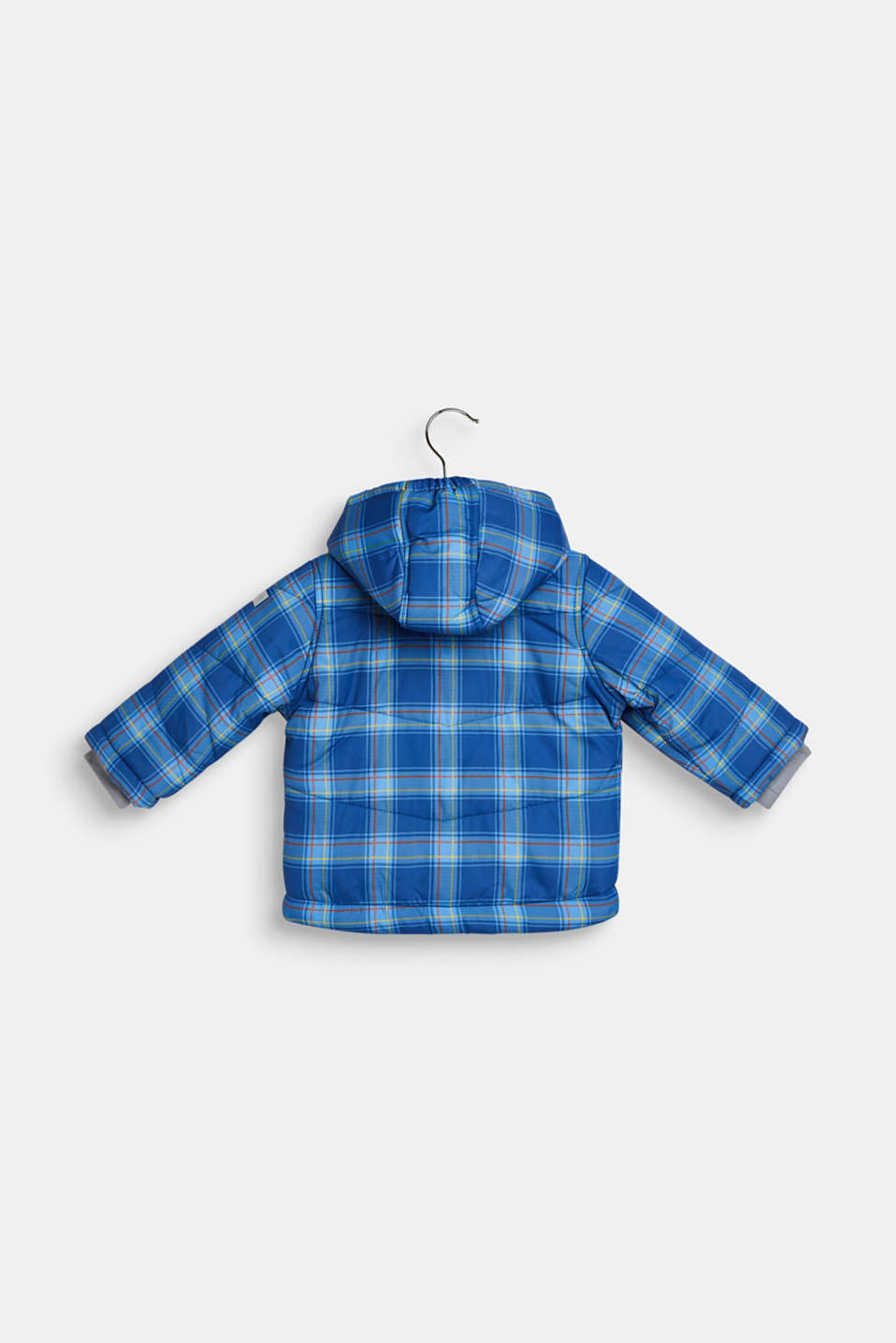 Padded check jacket with fleece lining, LCINDIGO, detail image number 1