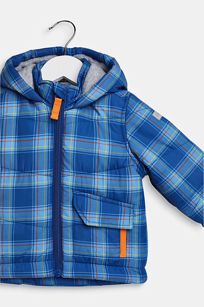 Padded check jacket with fleece lining, LCINDIGO, detail image number 2