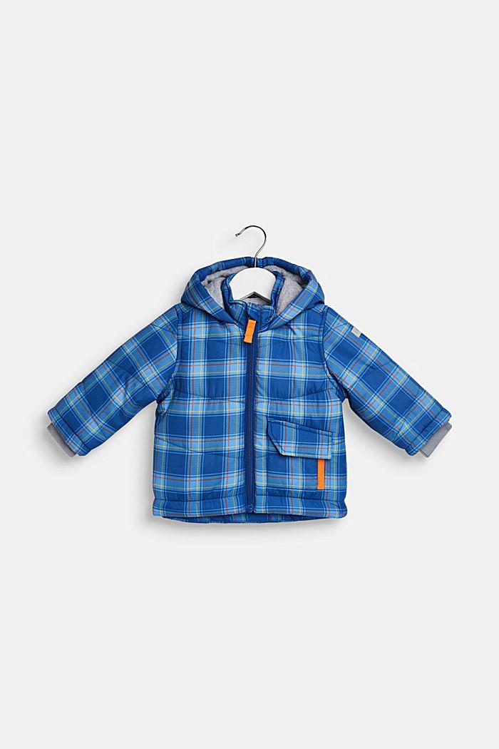 Padded check jacket with fleece lining, LCINDIGO, detail image number 0