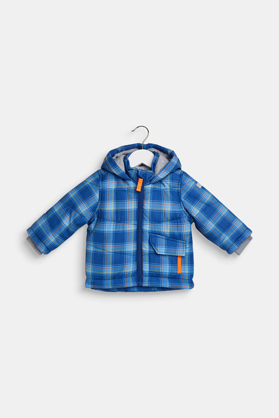 Esprit Padded check jacket with fleece lining at our