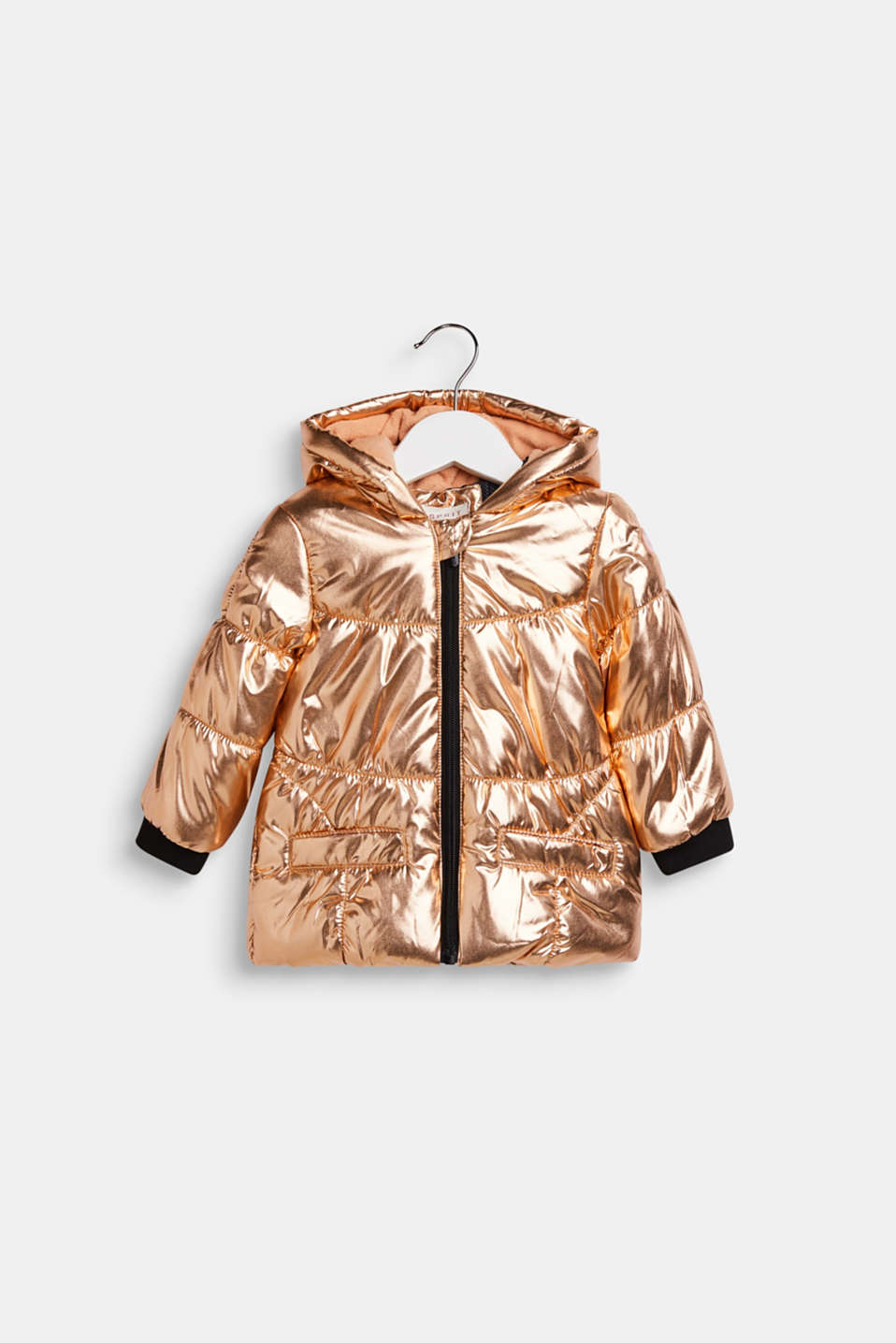 Esprit - Warme Steppjacke in Metallic-Optik