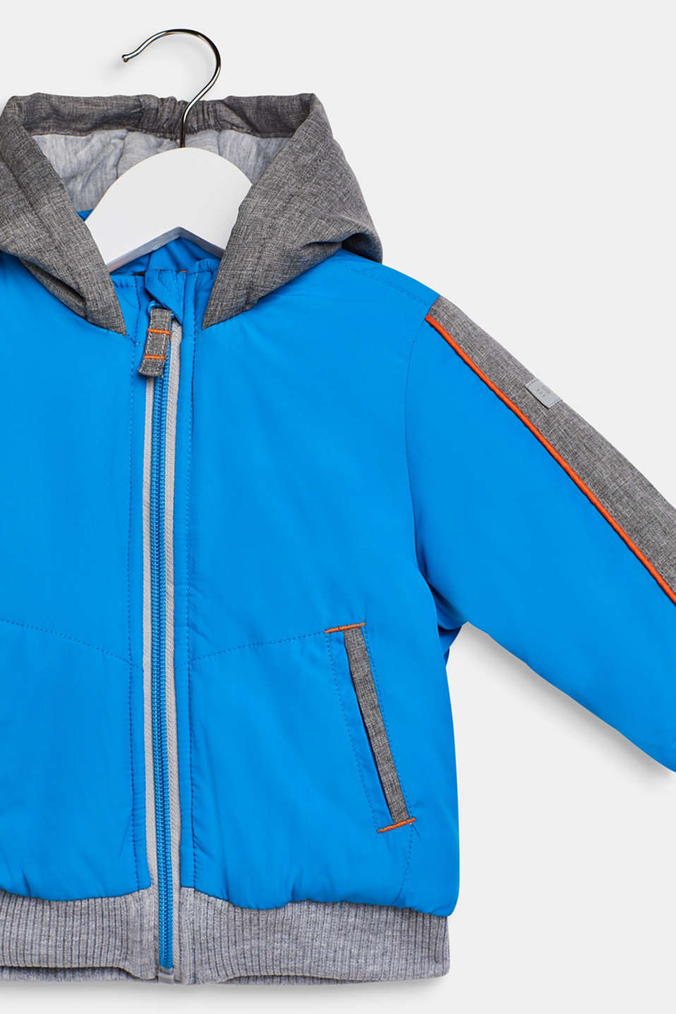Padded jacket with jersey lining, LCSPARROW BLUE, detail image number 2