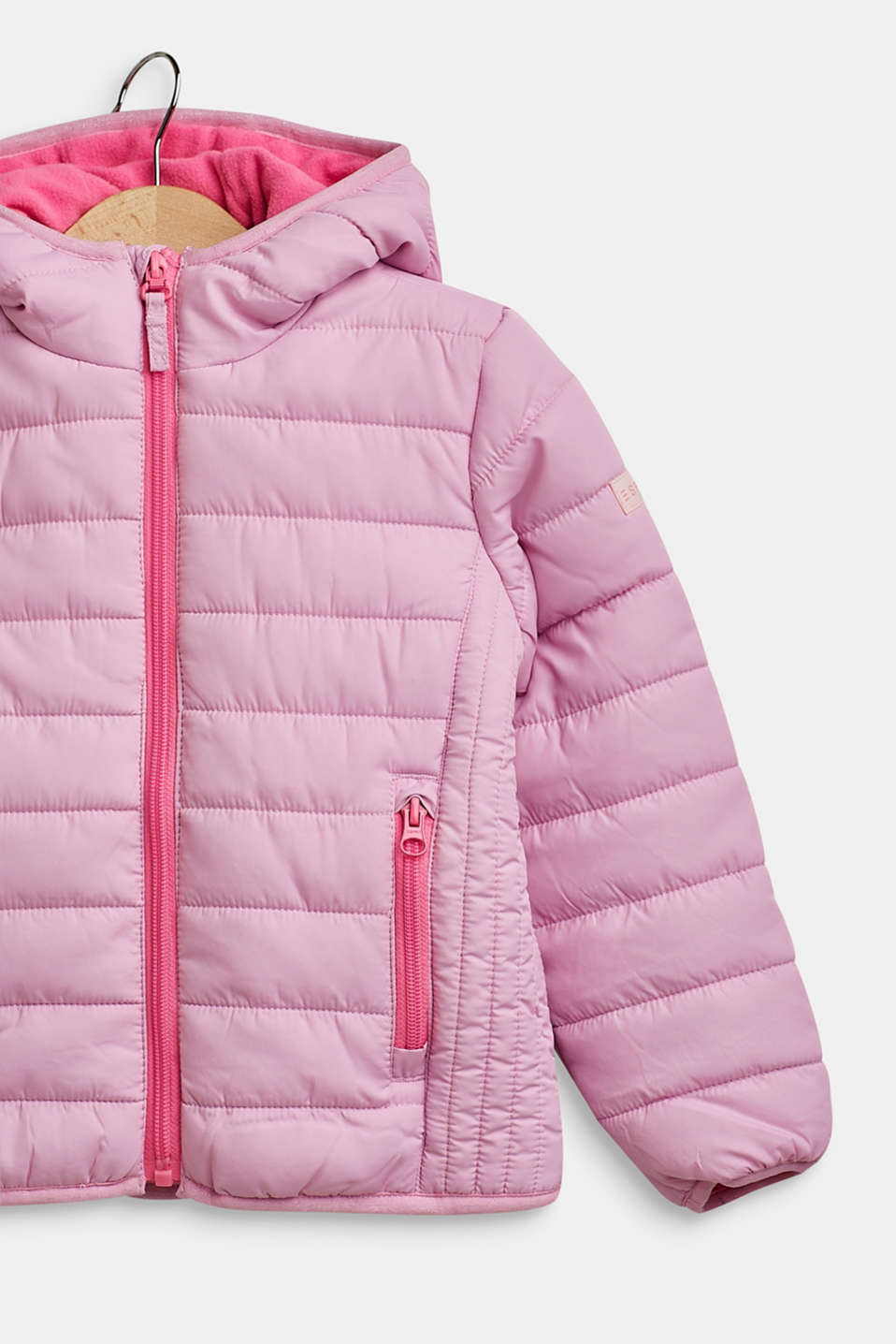 Hooded quilted jacket, CANDY PINK, detail image number 2