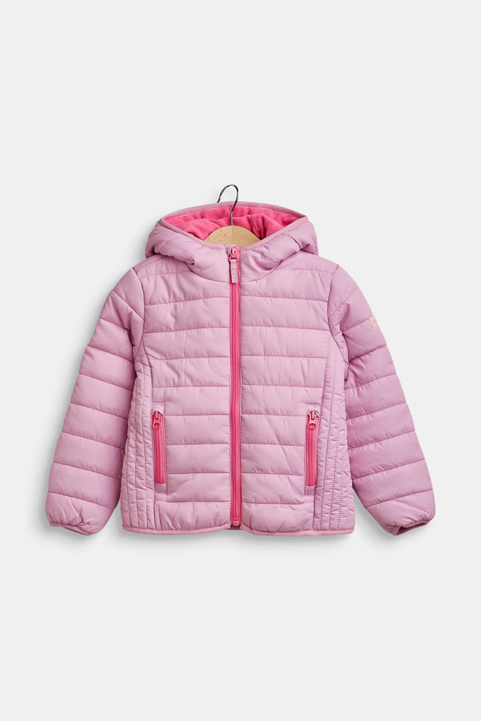 Hooded quilted jacket, CANDY PINK, detail image number 0