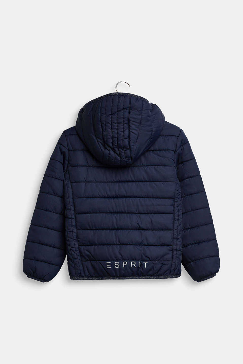 Hooded quilted jacket, NAVY, detail image number 1