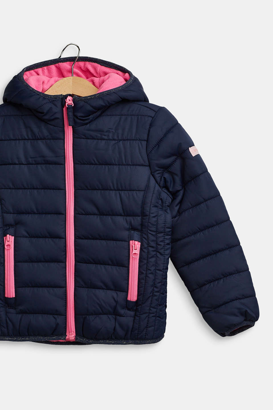 Hooded quilted jacket, NAVY, detail image number 2
