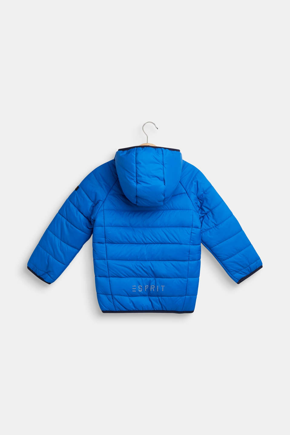 Padded quilted jacket with fleece lining, BRIGHT BLUE, detail image number 1