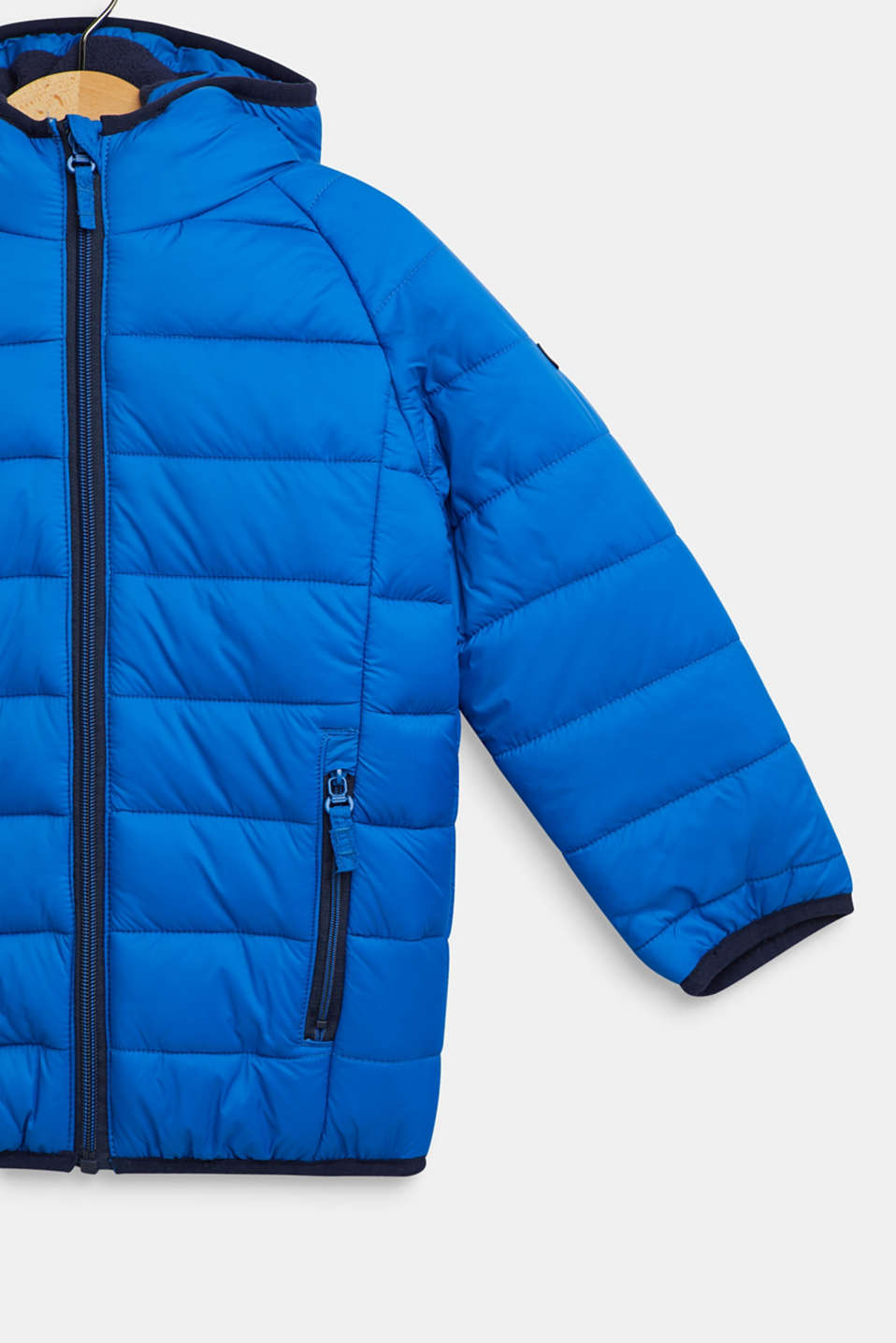 Padded quilted jacket with fleece lining, BRIGHT BLUE, detail image number 2