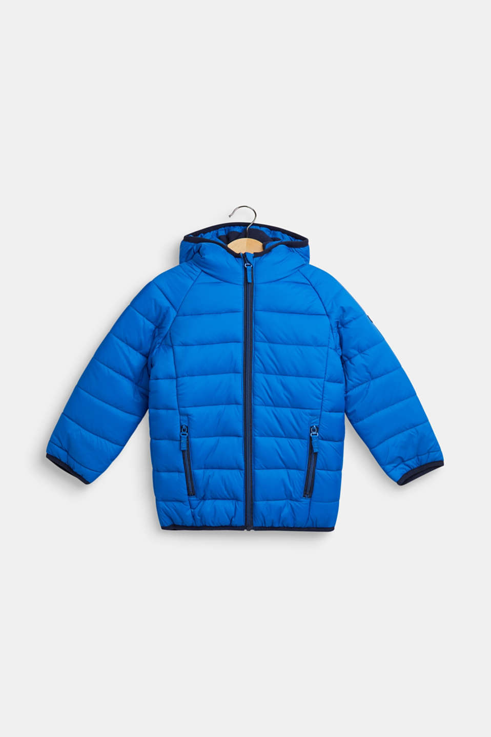 Padded quilted jacket with fleece lining, BRIGHT BLUE, detail image number 0