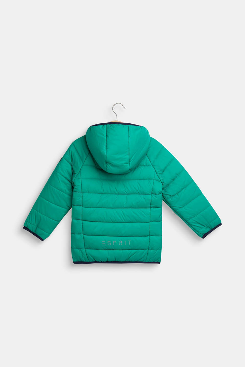 Padded quilted jacket with fleece lining, MID GREEN, detail image number 1