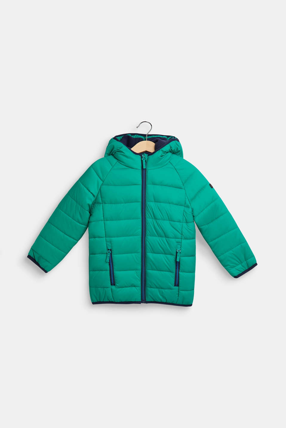 Padded quilted jacket with fleece lining, MID GREEN, detail image number 0