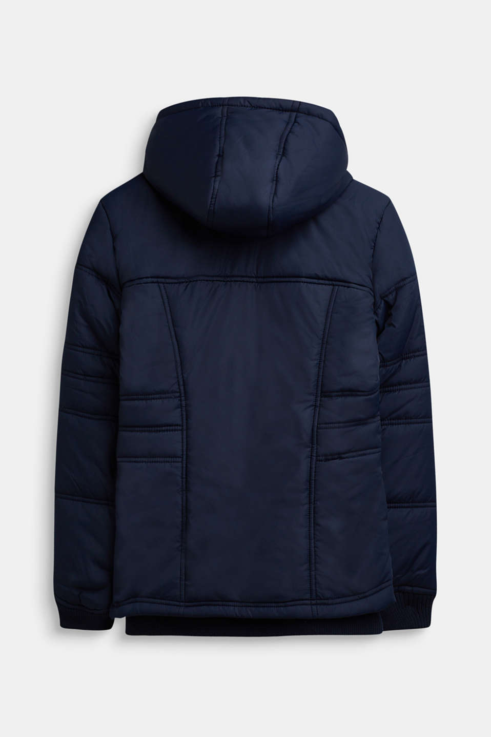 Tailored quilted jacket, LCDEEP INDIGO, detail image number 1
