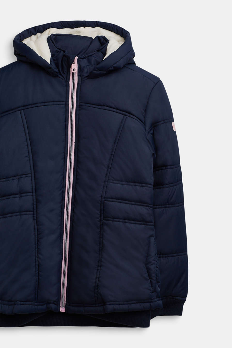 Tailored quilted jacket, LCDEEP INDIGO, detail image number 2