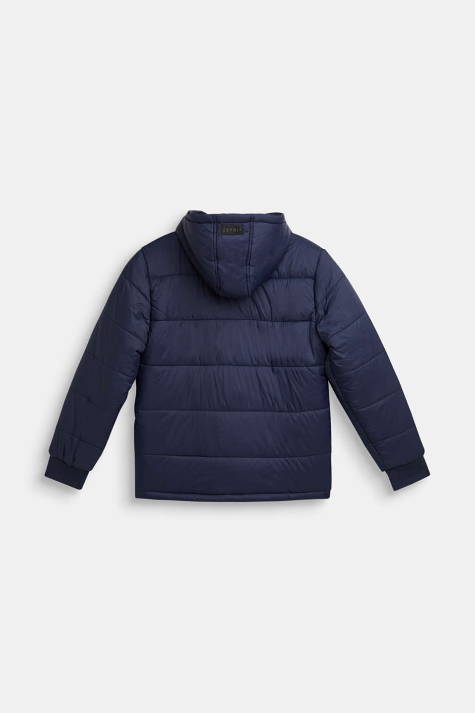 Padded jacket with a hood, LCNAVY, detail image number 1