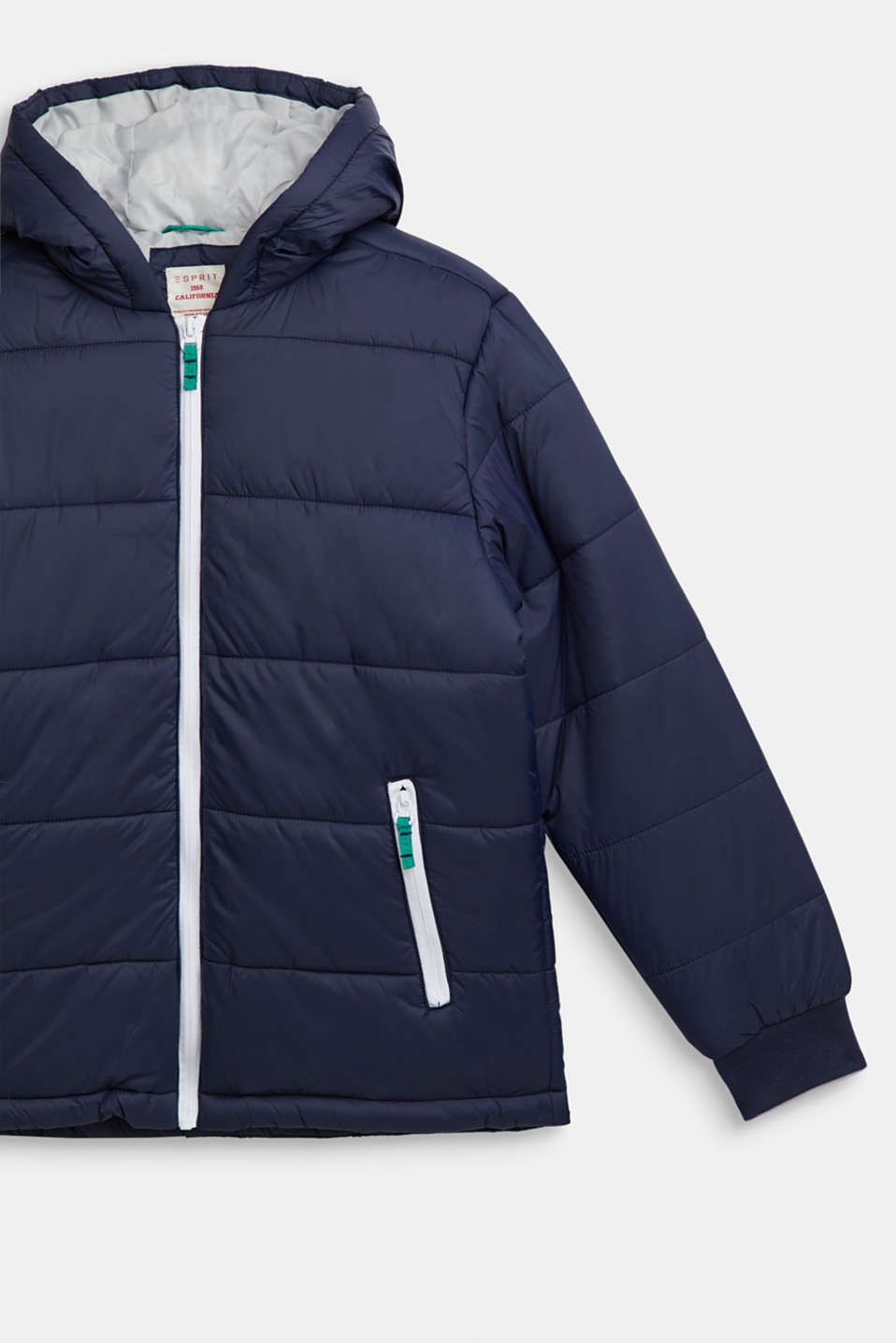 Padded jacket with a hood, LCNAVY, detail image number 2
