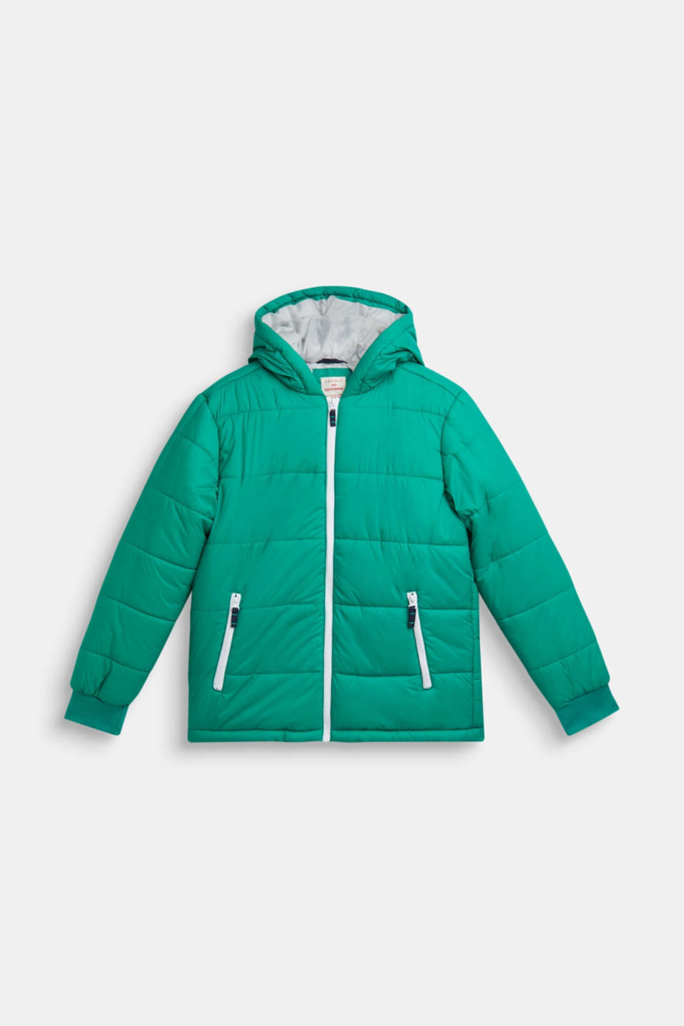 Padded jacket with a hood, LCMID GREEN, detail image number 0
