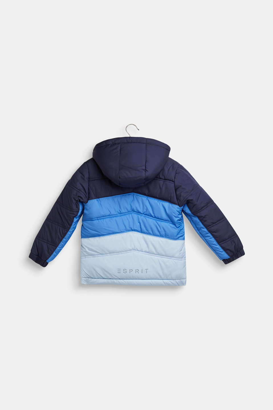 Padded jacket with reflective details, NAVY, detail image number 1