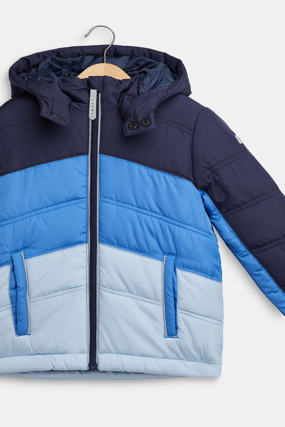 Padded jacket with reflective details, NAVY, detail image number 2