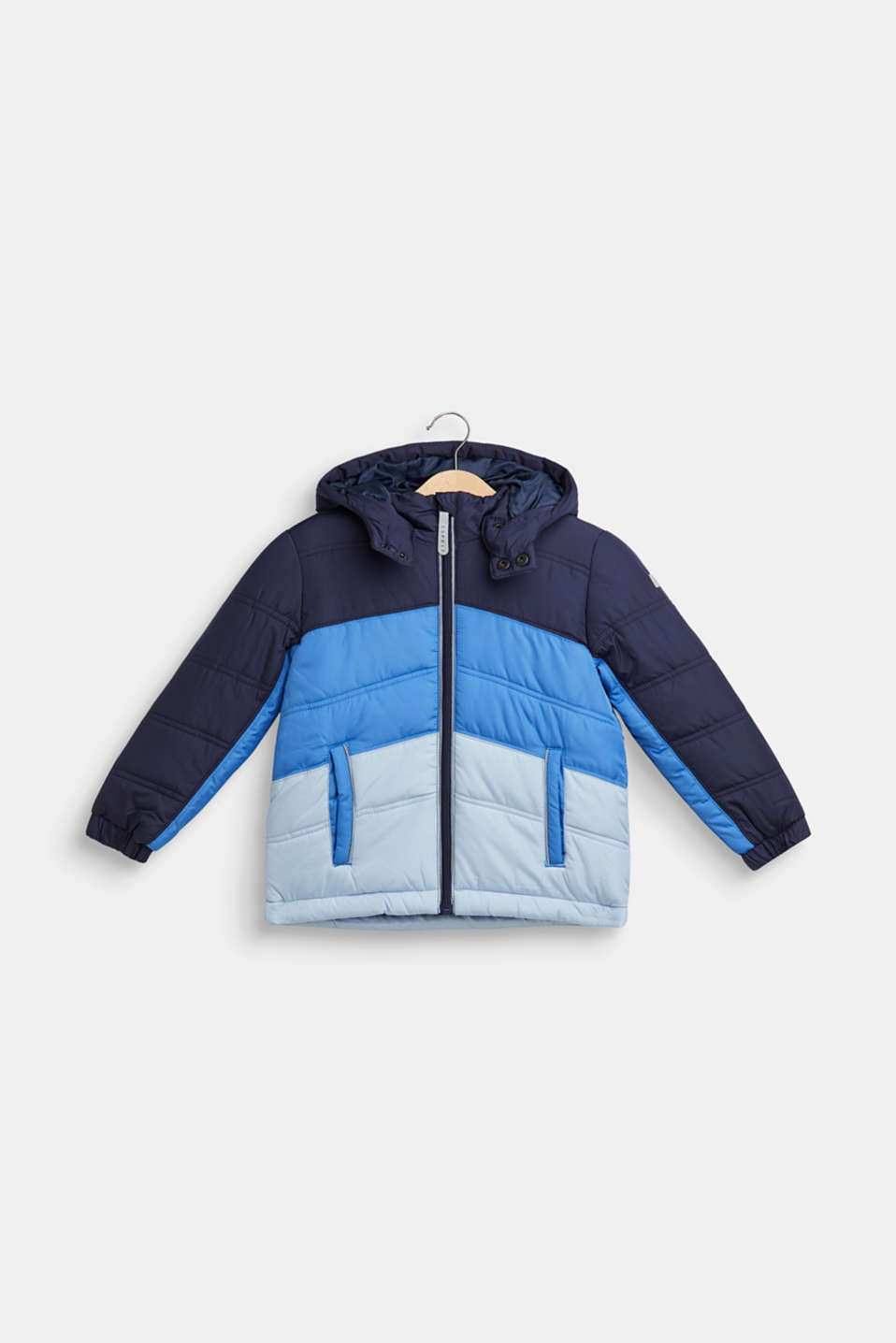 Padded jacket with reflective details, NAVY, detail image number 0