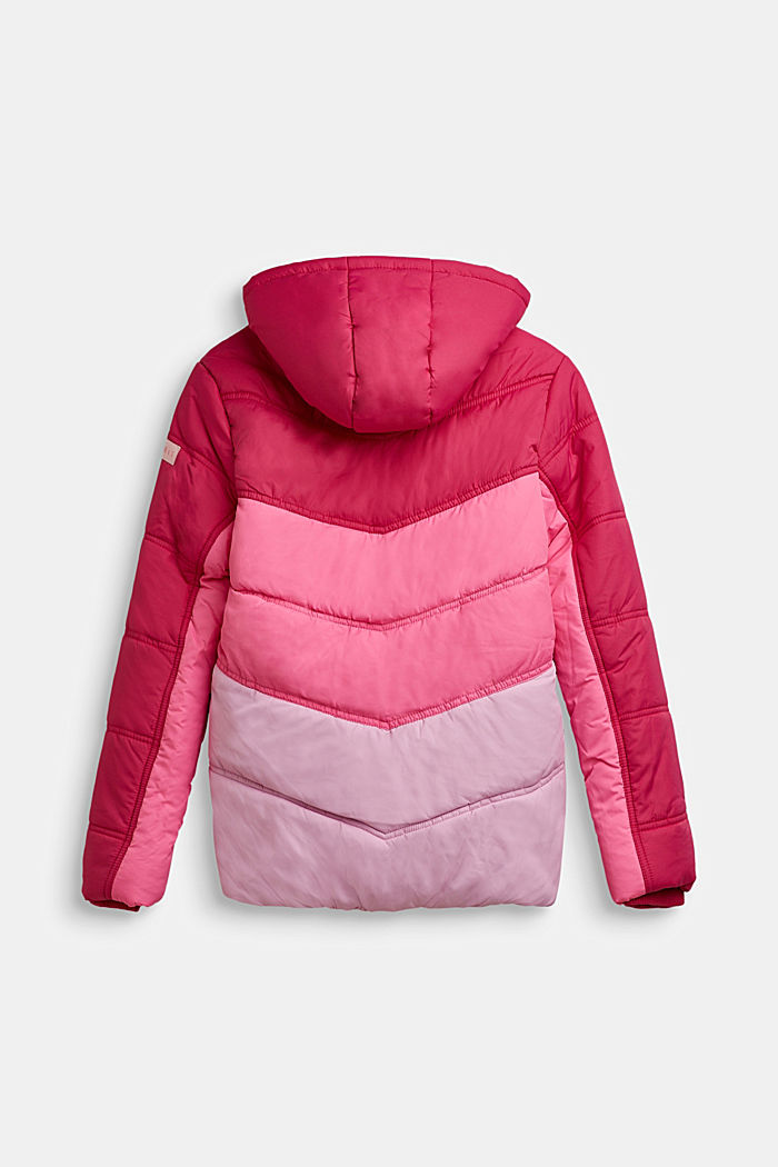 Stepp-Jacke im Colorblocking, FUCHSIA, detail image number 1