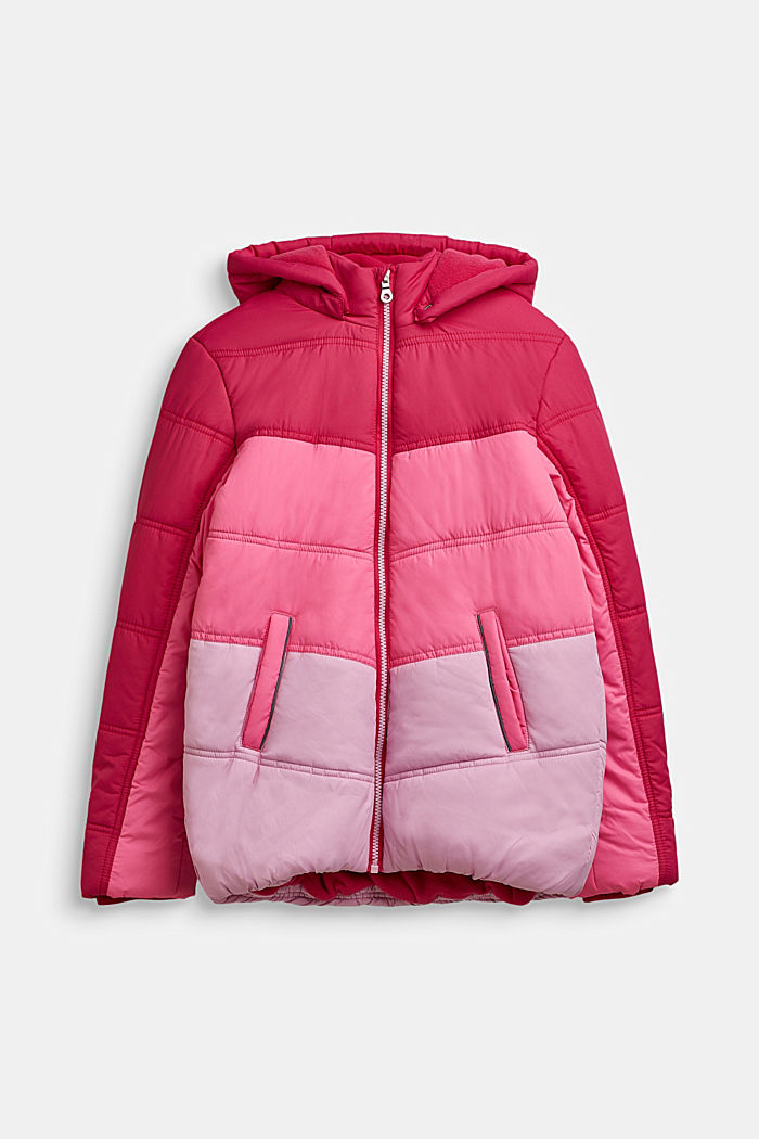 Stepp-Jacke im Colorblocking, FUCHSIA, detail image number 0