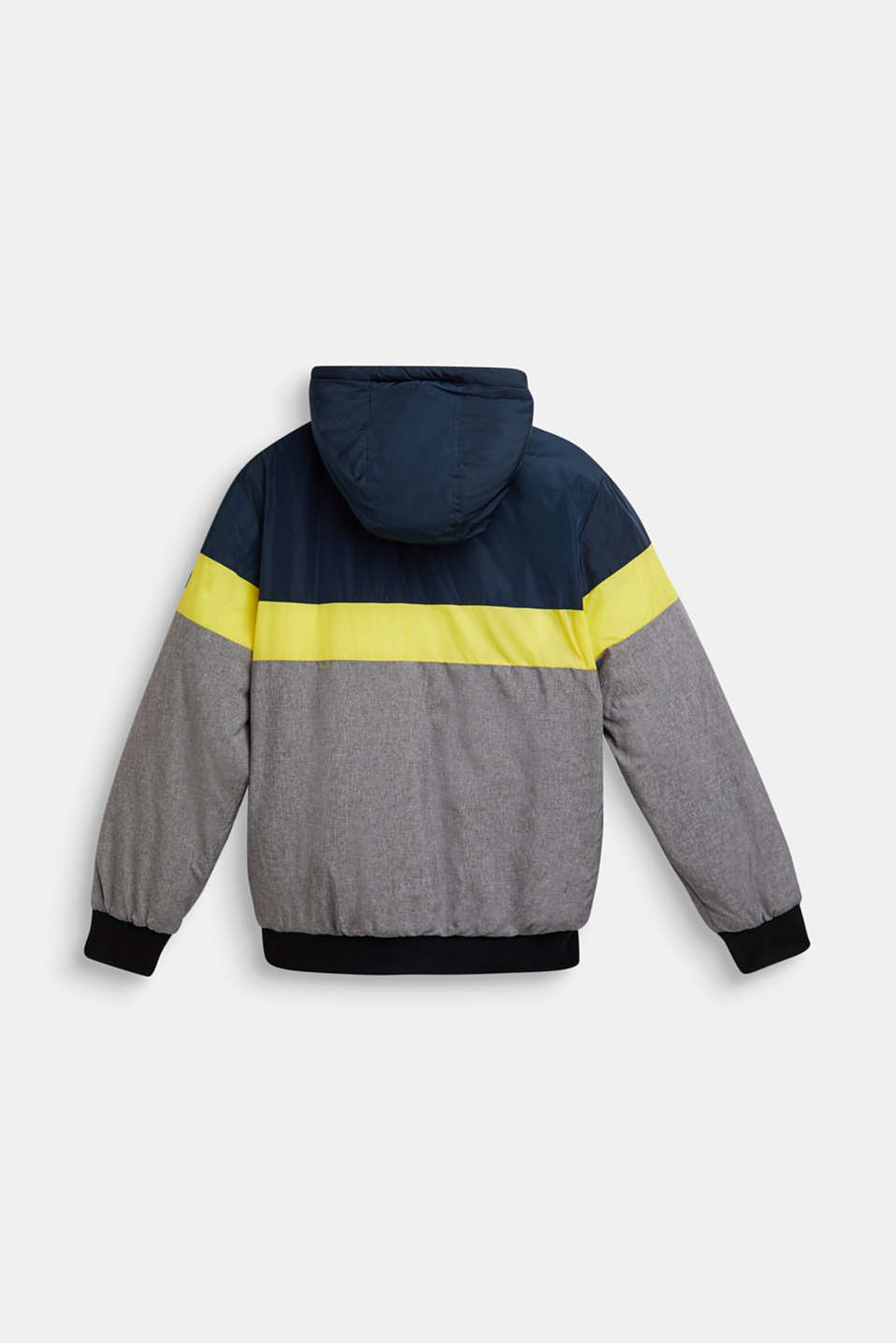 Padded outdoor jacket with fleece lining, LCNAVY, detail image number 1